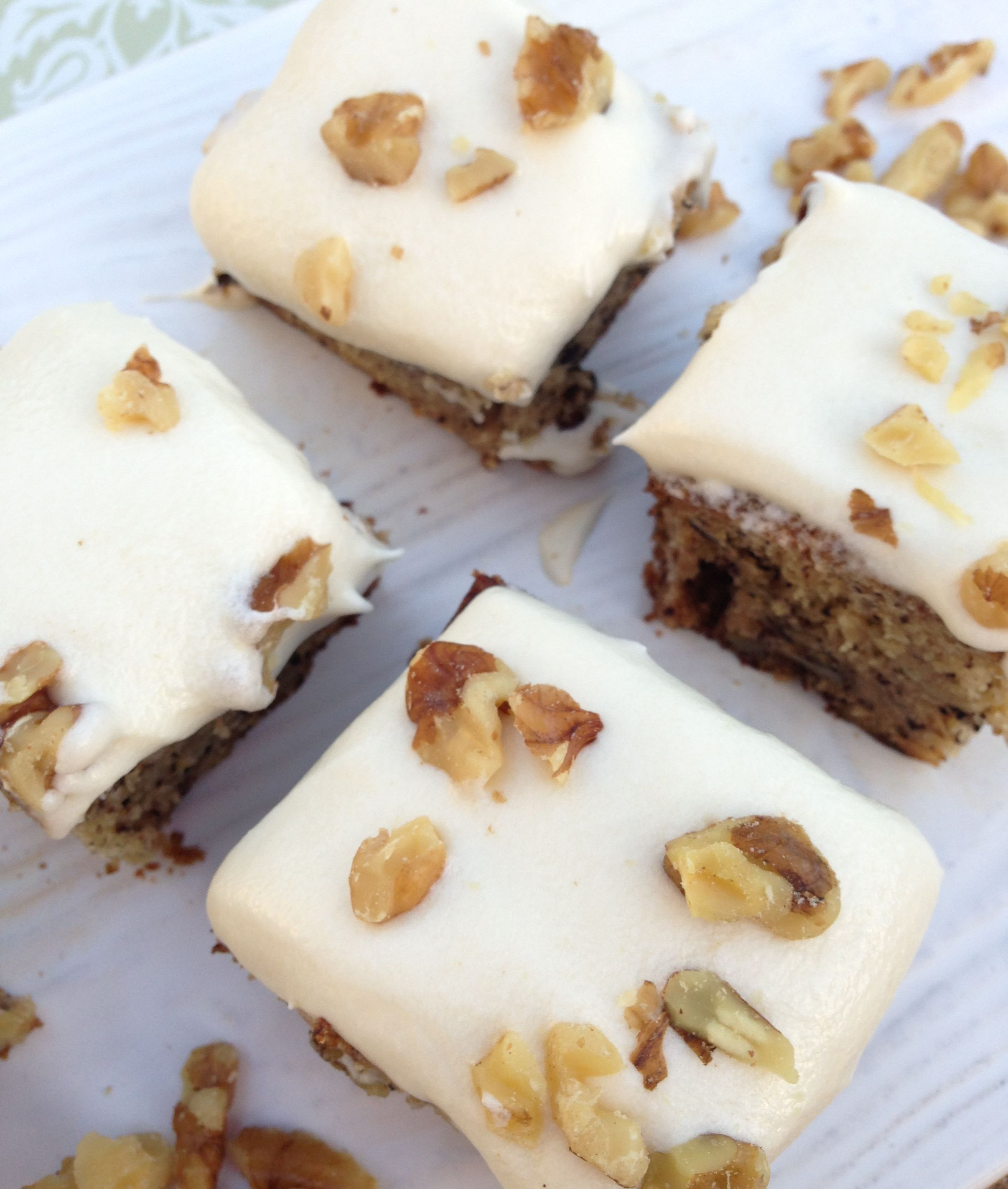 Banana Walnut Rum Cake with Cream Cheese Frosting