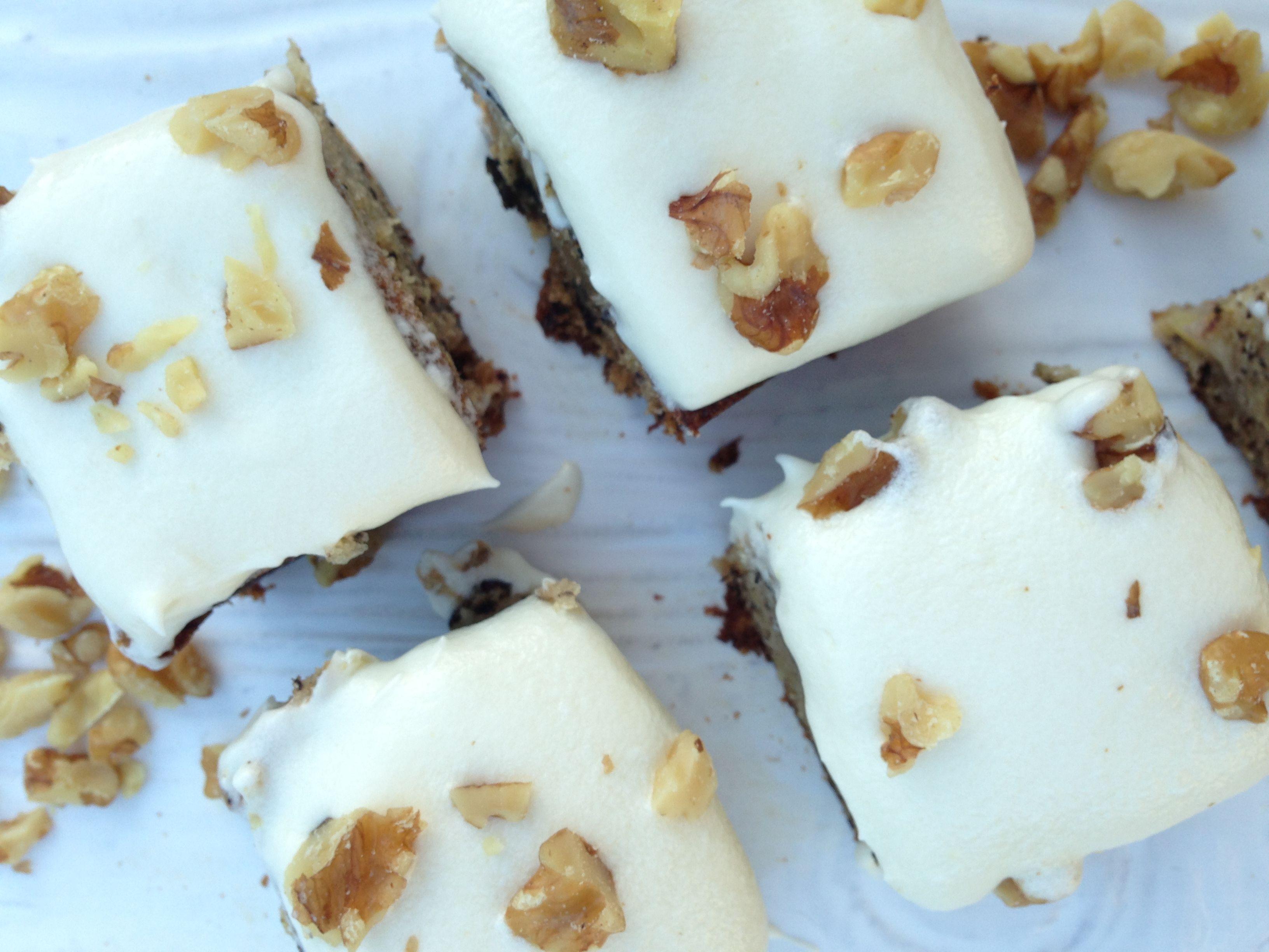Banana Walnut Rum Cake with Cream Cheese Frosting