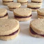Brown Butter Shortbread Strawberry Jam Sandwich Cookies Recipe