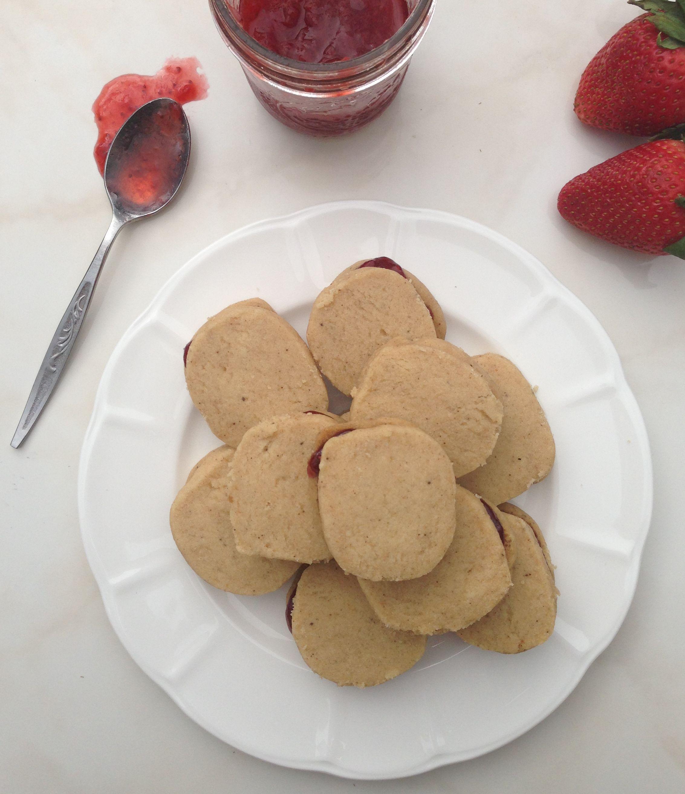 Shortbread strawberry jam cookies recipes