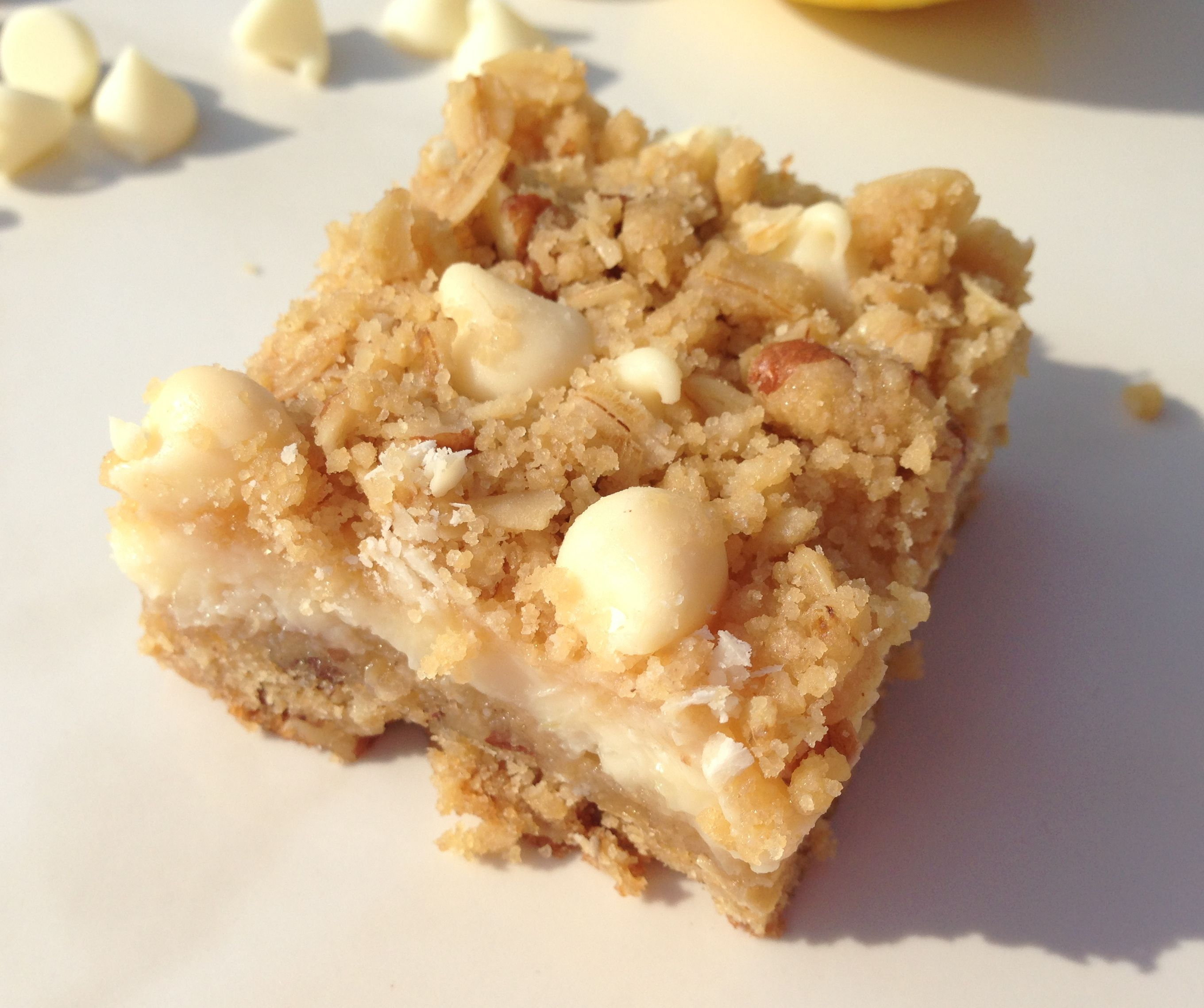 White Chocolate Lemon Streusel Bars Recipe