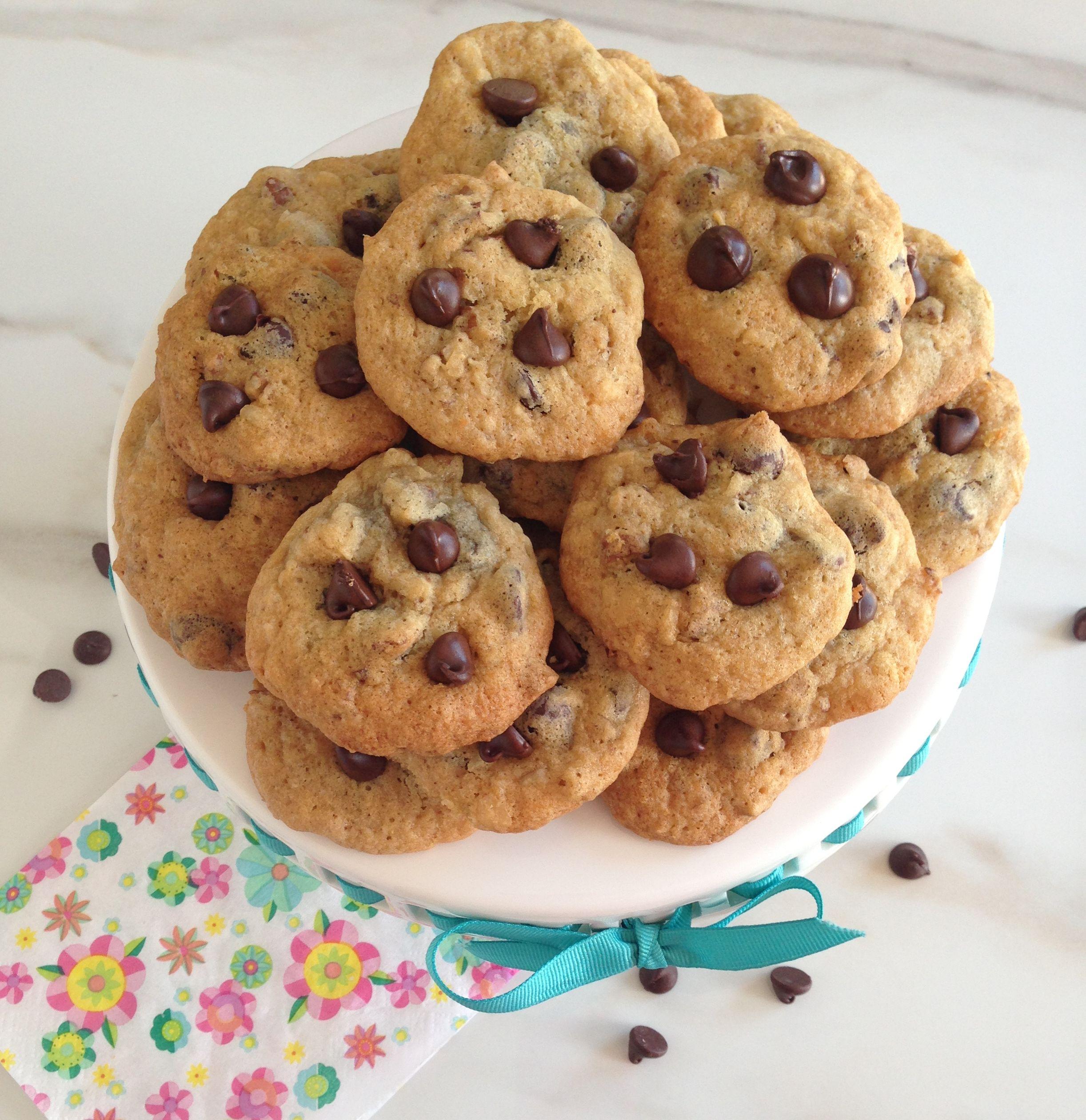 Coconut Pecan Dark Chocolate Chip Cookies