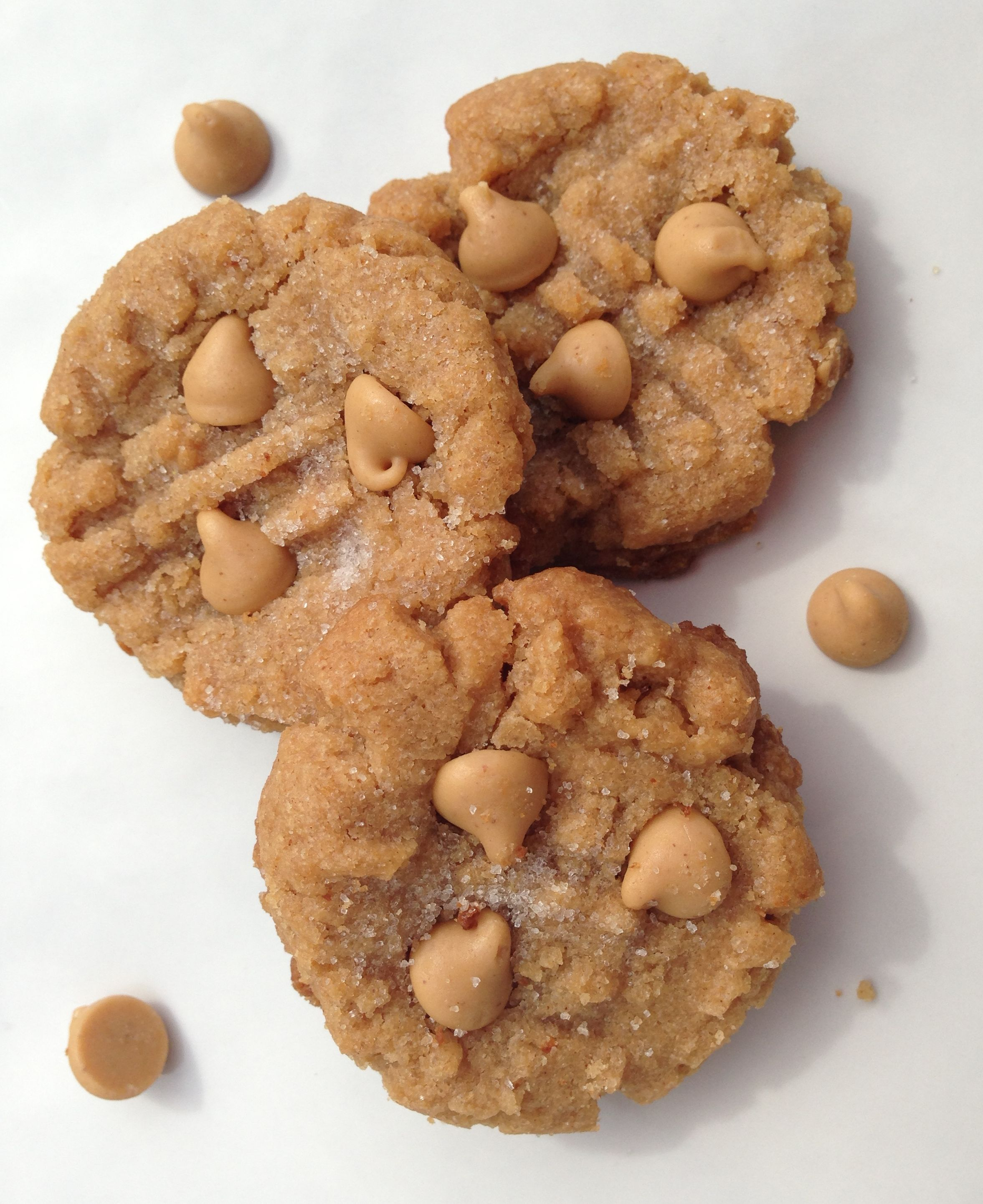 Easy Peanut Butter Chip Peanut Butter Cookies Recipe