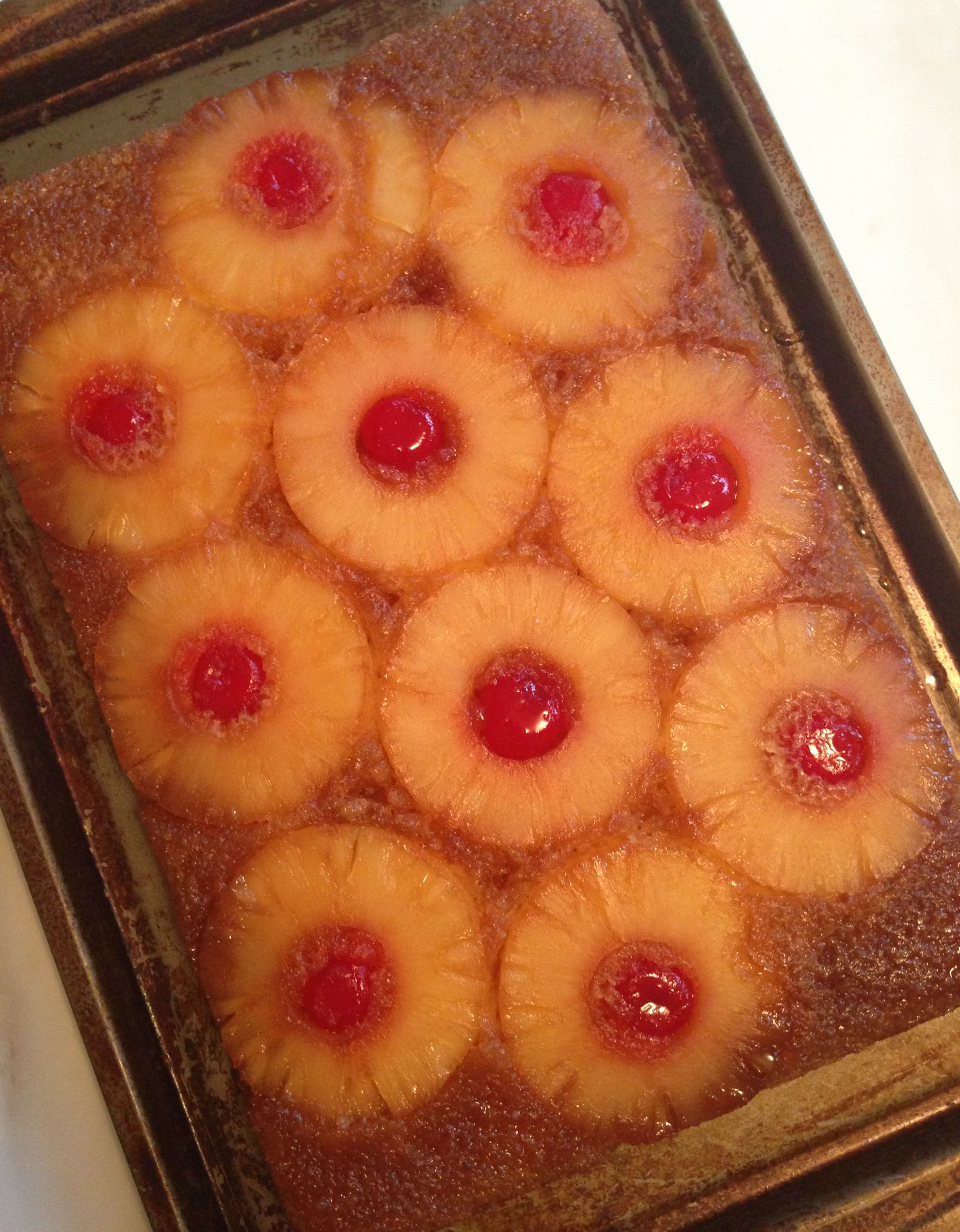Pineapple Upside Down Coffee Cake Recipe