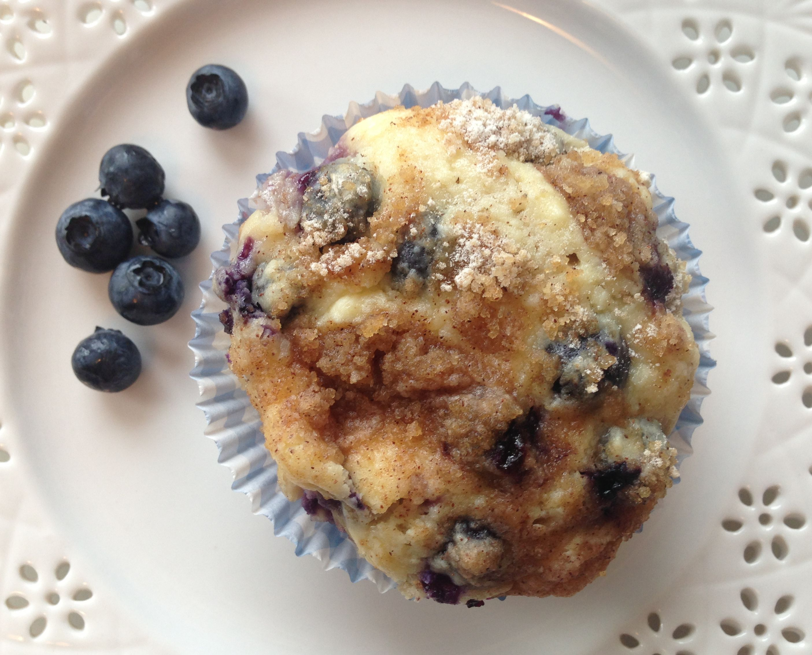 Blueberry and Strawberry Cheesecake Muffins