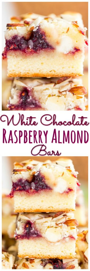 White Chocolate Raspberry Almond Bars pin