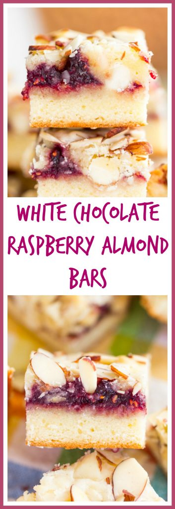 White Chocolate Raspberry Almond Bars small pin