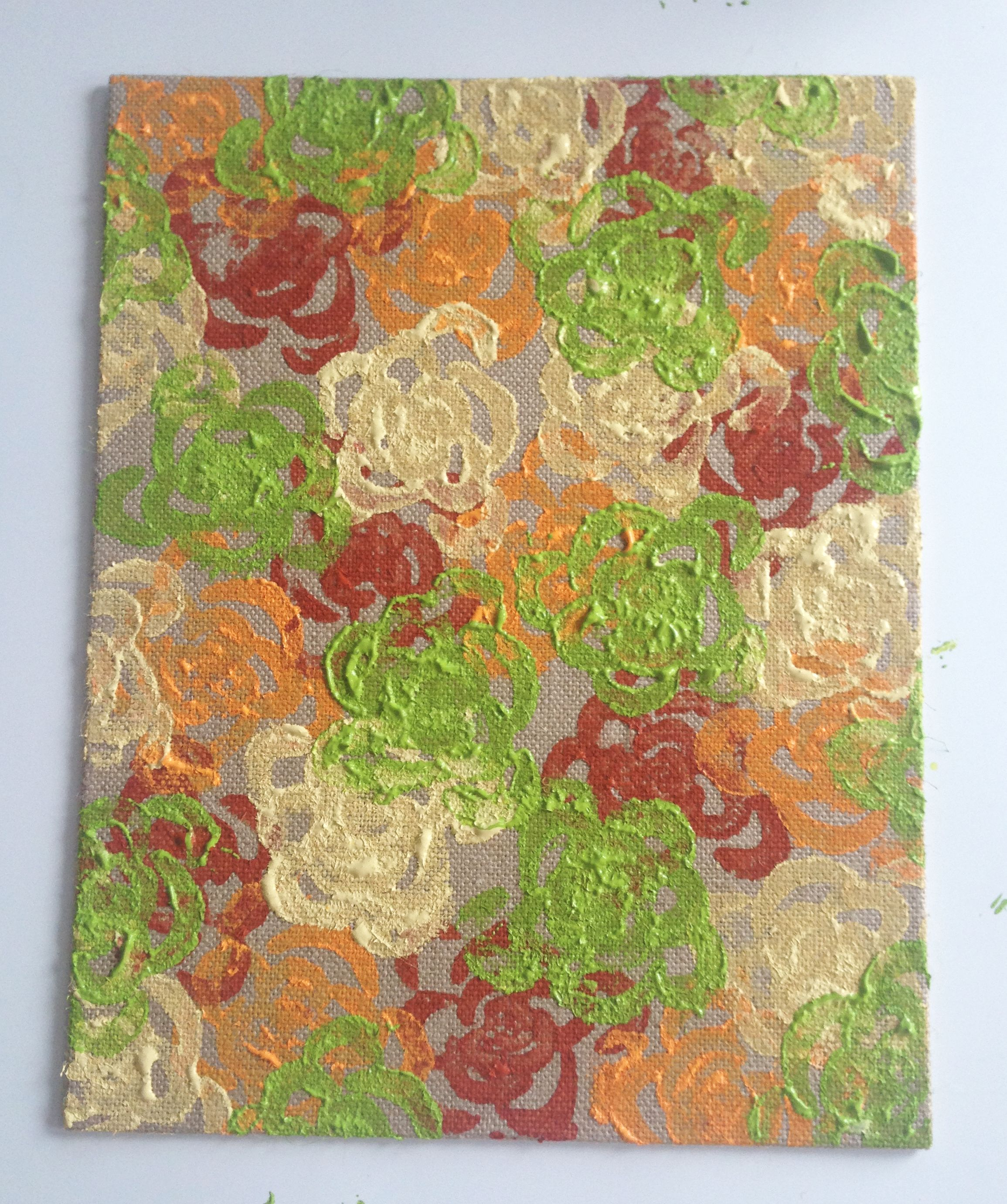 DIY Veggie Stamped Wall Art