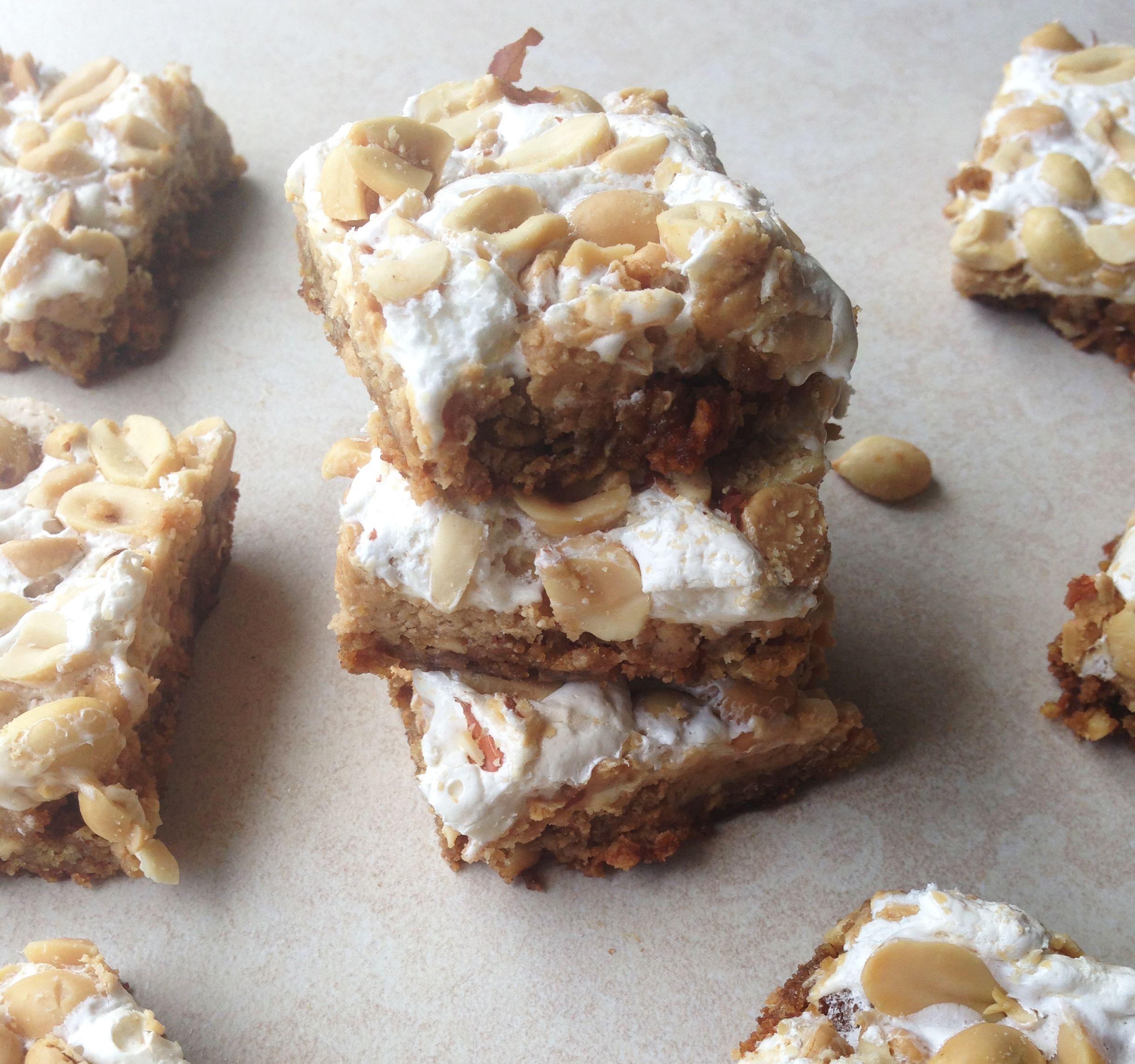 Fluffernutter Cookie Bars