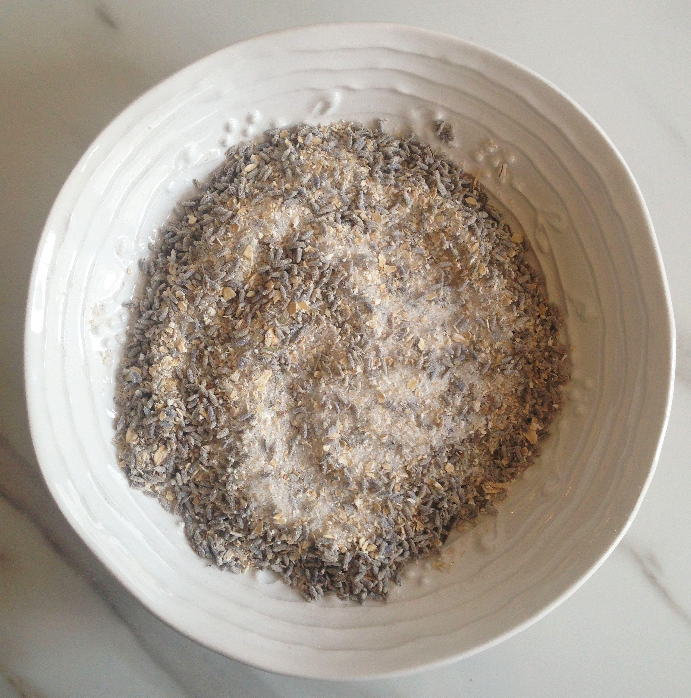 "Homemade DIY Lavender Salt Scrub or ""Tub Tea"""