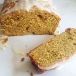 Pumpkin Pound Cake with Lemon Glaze