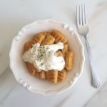 pumpkin parmesan gnocchi & goat cheese garlic sauce 13