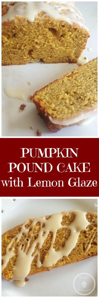 pumpkin pound cake with lemon glaze pin