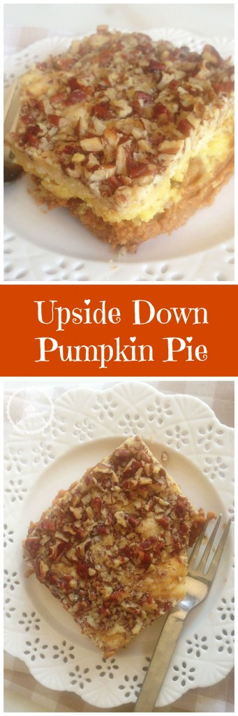 pumpkin upside down cake mix cake pecans streusel pin