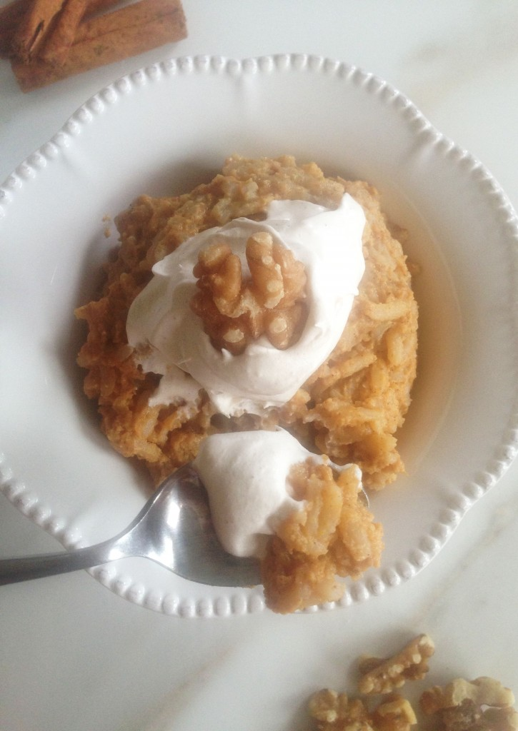 Brown Sugar Pumpkin Brown Rice Pudding with Maple Cinnamon Whipped Topping 12