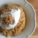 Pumpkin Brown Rice Pudding with Cinnamon Maple Cream Topping