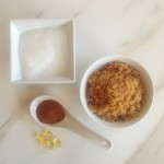 Homemade Coconut Oil Brown Sugar Scrub