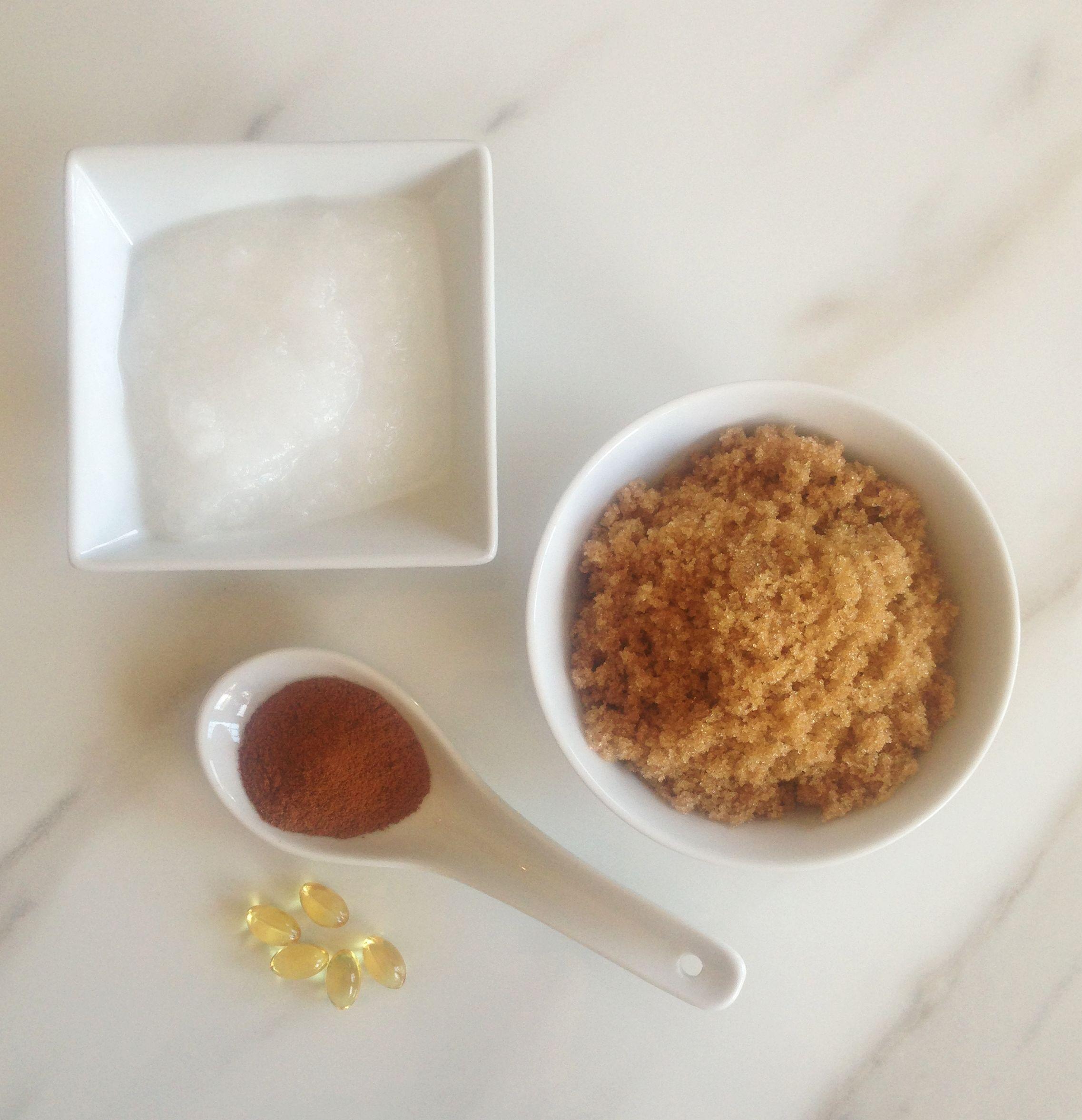 Homemade Coconut Oil Brown Sugar Scrub
