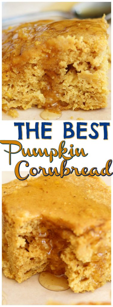 The Best Pumpkin Cornbread recipe image thegoldlininggirl.com pin 2