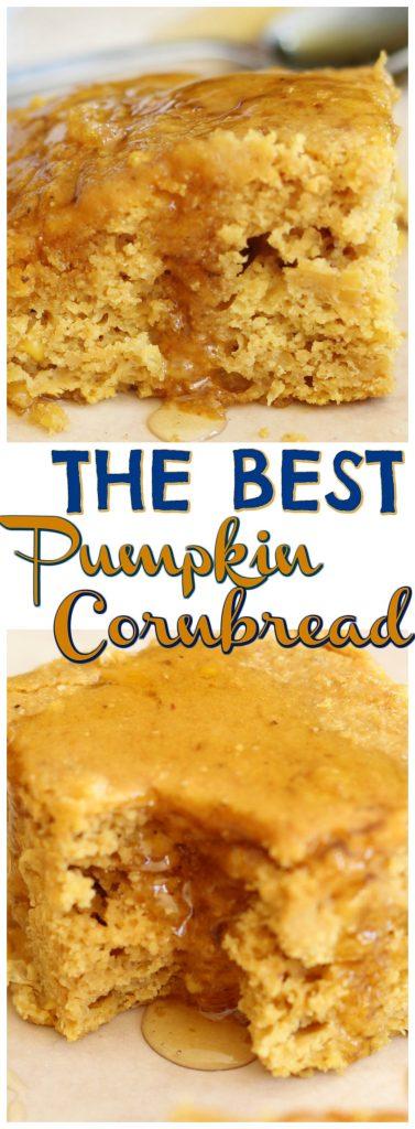 The Best Pumpkin Cornbread recipe image thegoldlininggirl.com pin 2