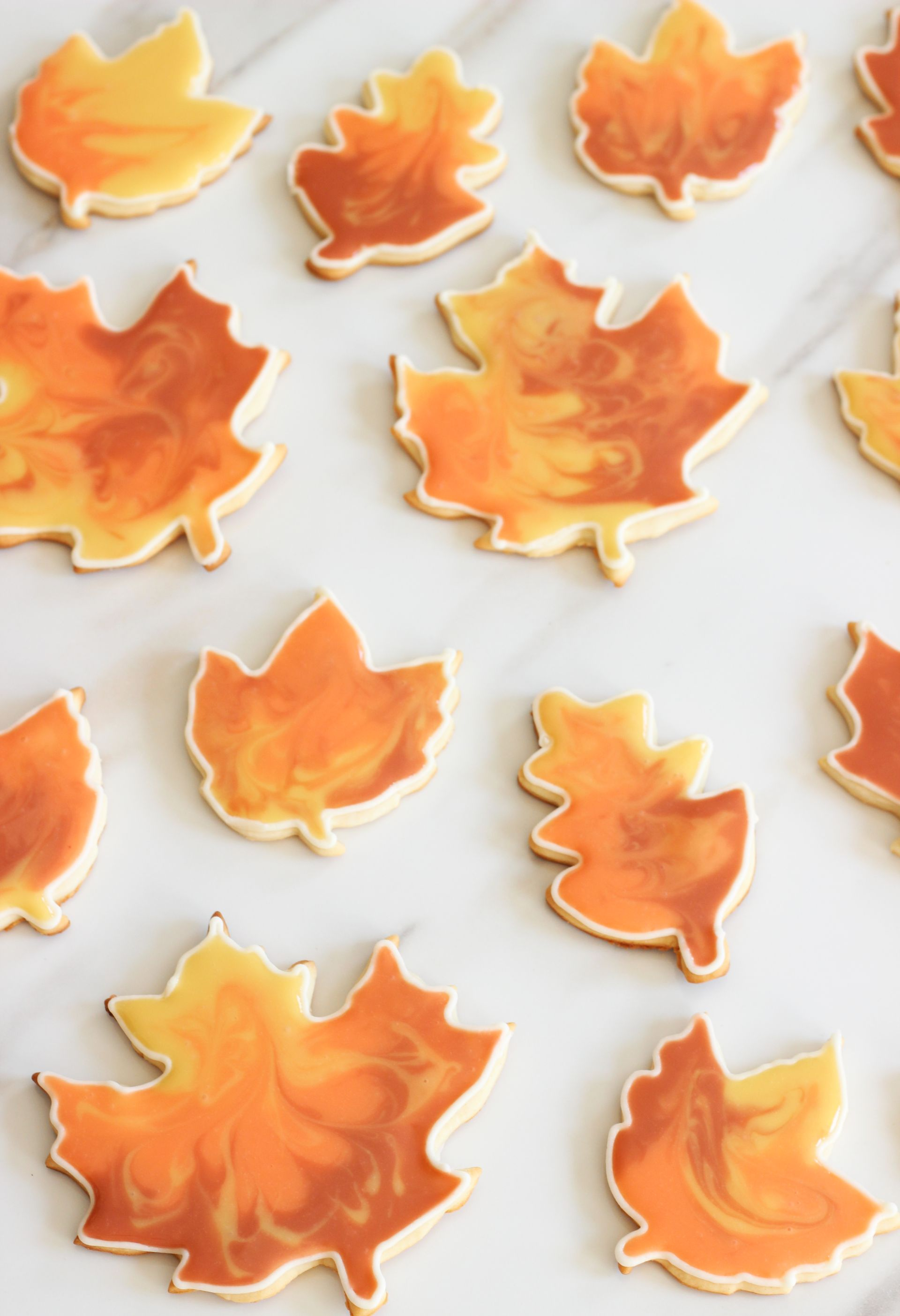 super easy leaf cookies cooking flooding with sugar cookie cutouts the gold 5526