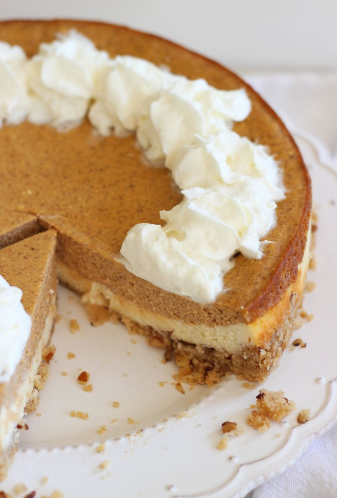 double layer pumpkin cheesecake spice with shortbread pecan crust 1 (12)