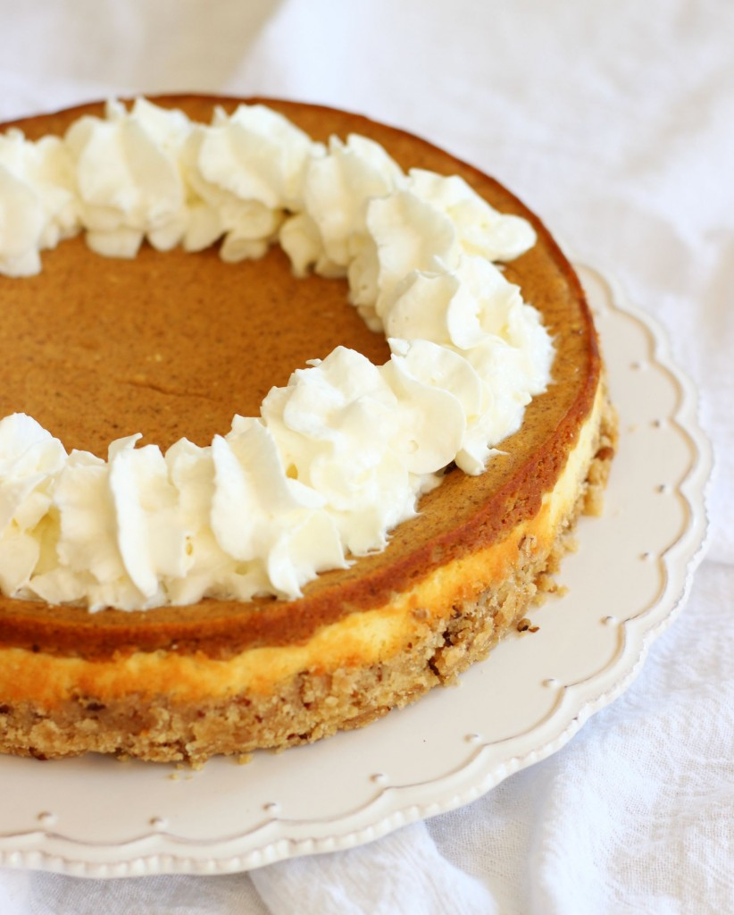 double layer pumpkin cheesecake spice with shortbread pecan crust 1 (6)