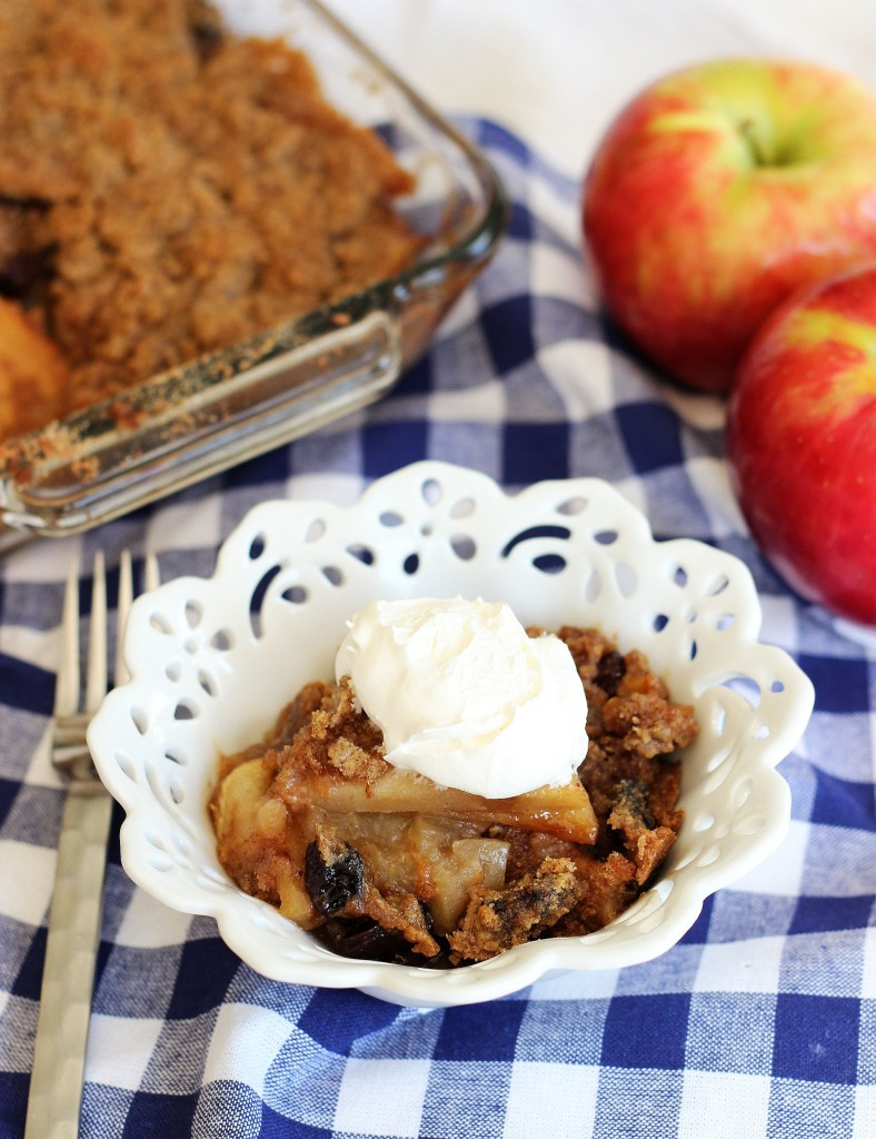 granny smith apple crisp with tart sour cherries 12