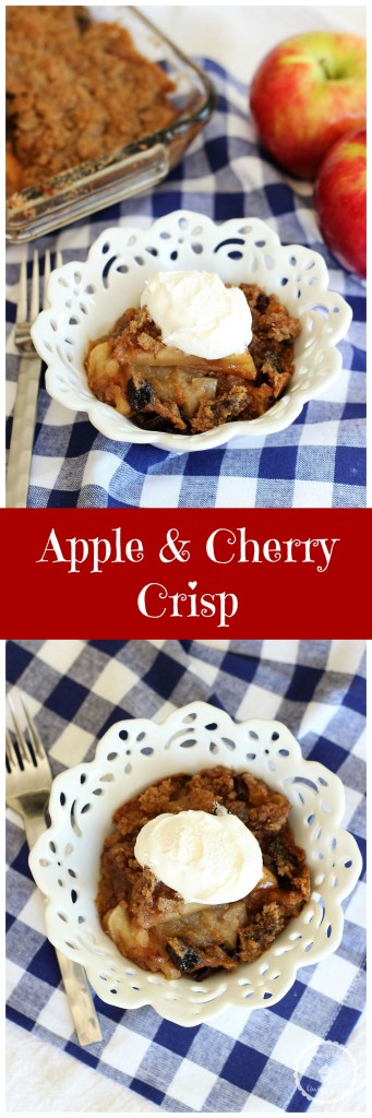 granny smith apple crisp with tart sour cherries pin
