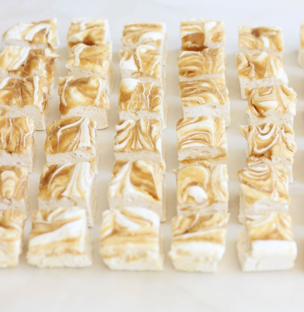homemade marshmallows malted caramel swirl marshmallows (9)