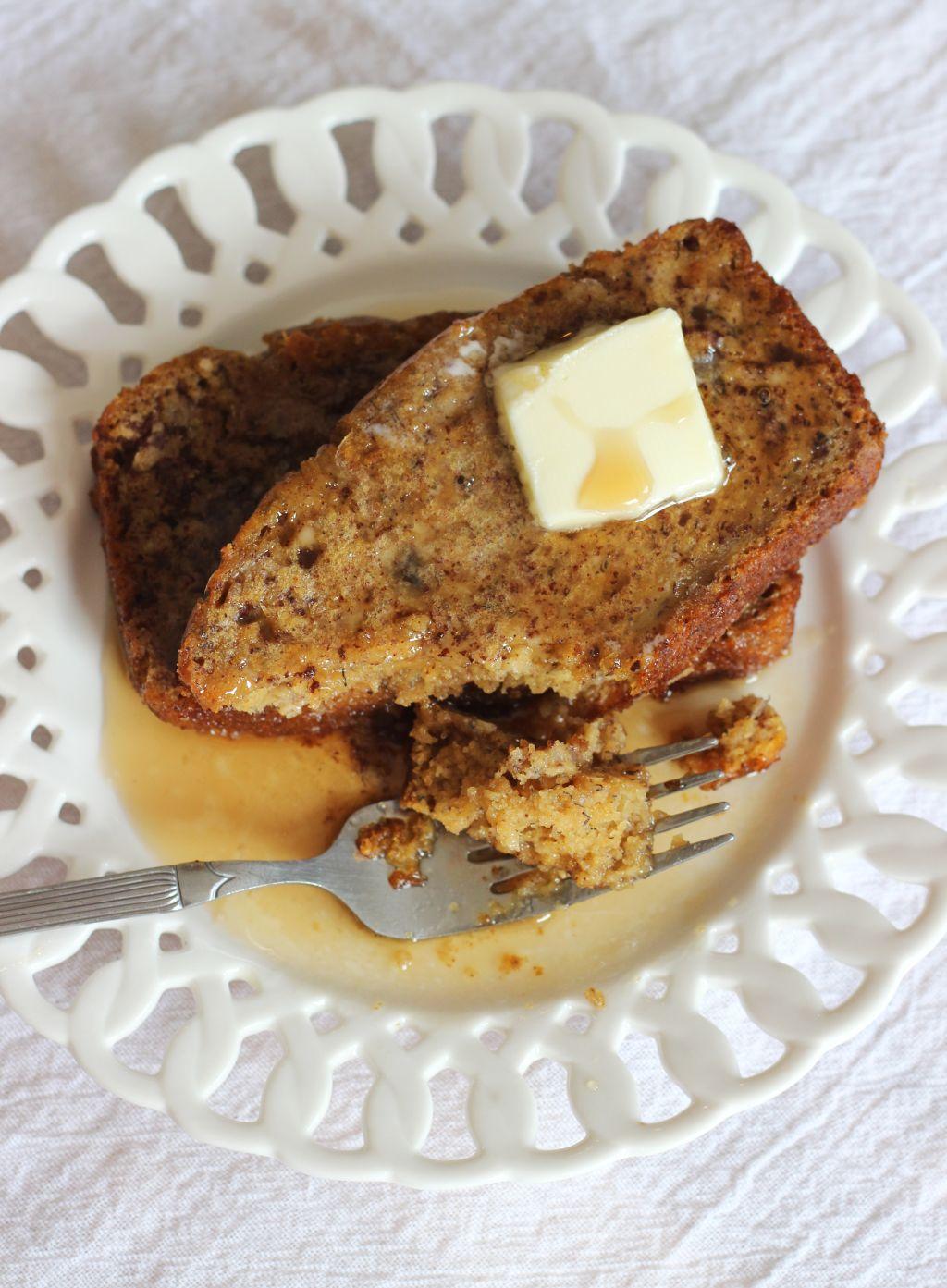 Pumpkin Banana Bread French Toast