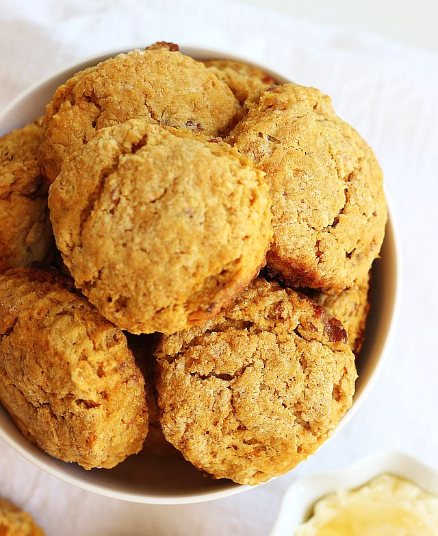 sweet potato bacon biscuits honey butter 5