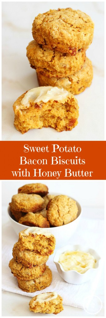 sweet potato bacon biscuits honey butter pin