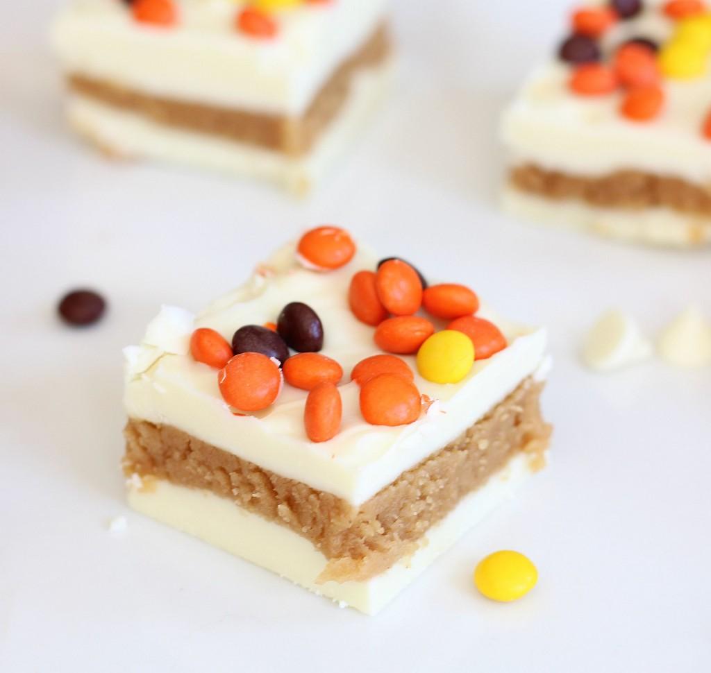 white chocolate peanut butter truffle bars 10