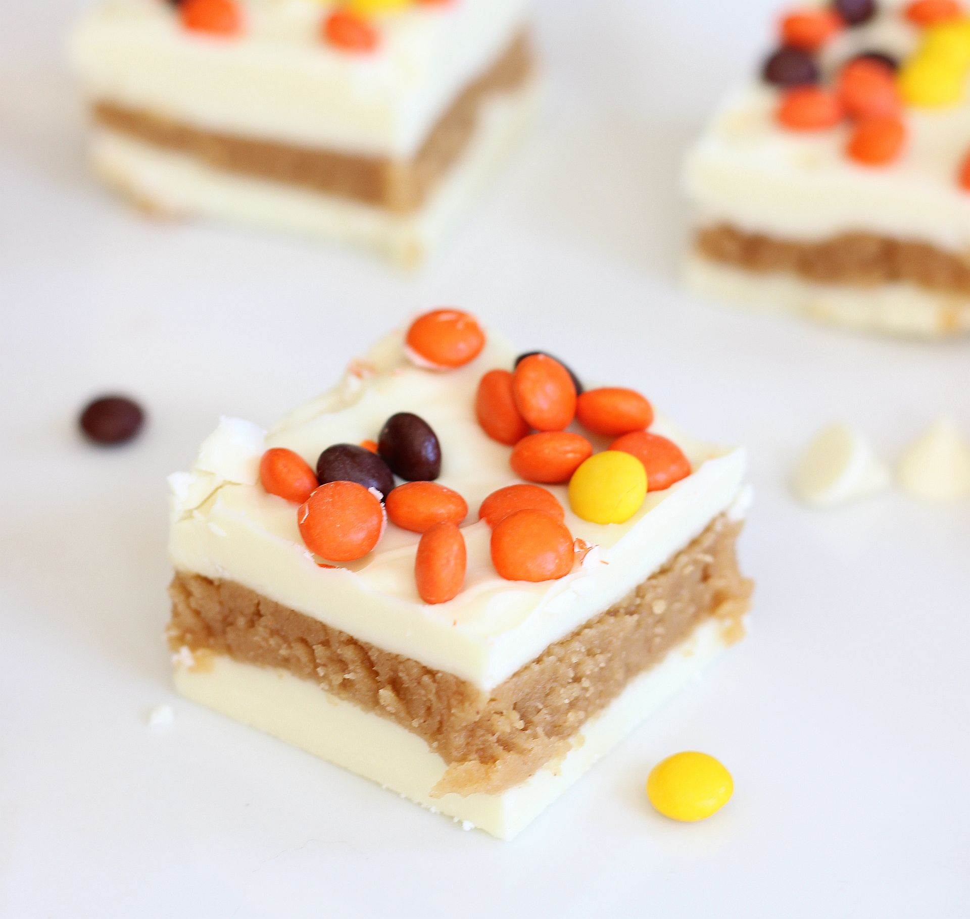 White Chocolate Peanut Butter Truffle Bars - The Gold Lining Girl