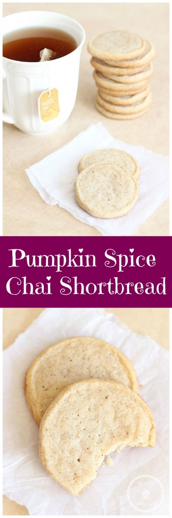 chai tea spiced shortbread cookies pin