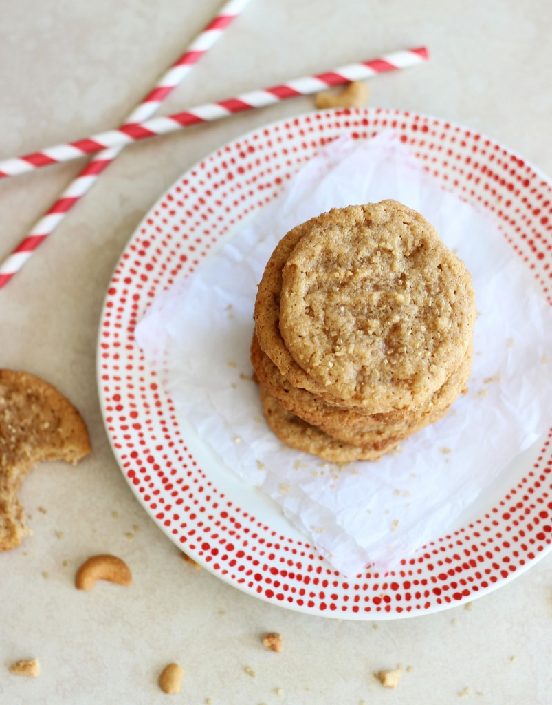 chewy cashew butter toffee cookies 1