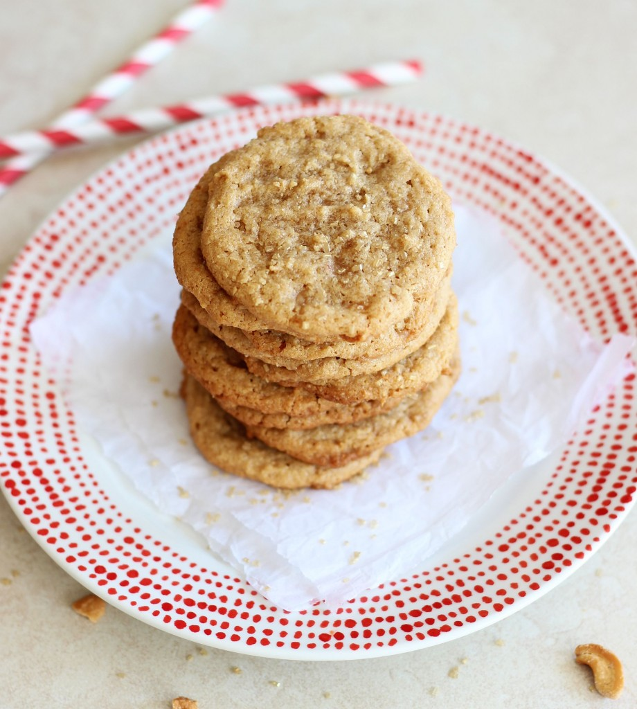 chewy cashew butter toffee cookies 3