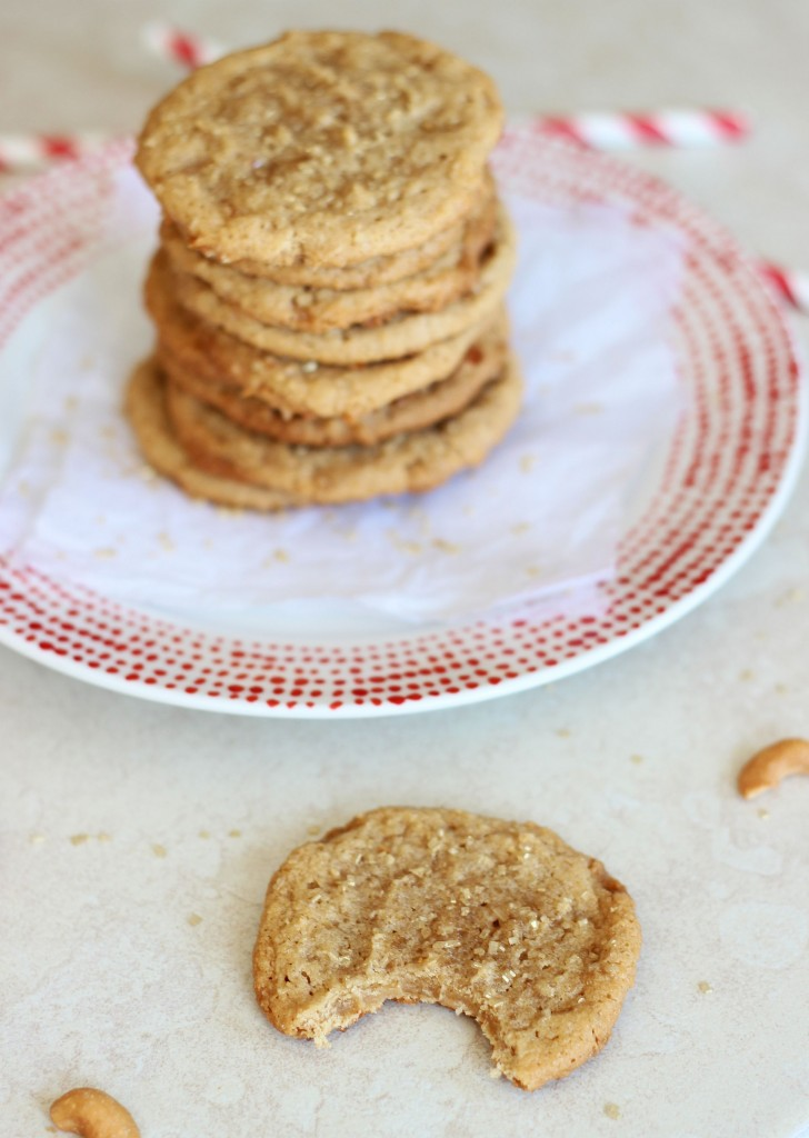 chewy cashew butter toffee cookies 4