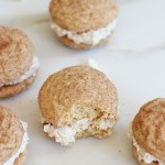 chewy snickerdoodle sandwich cookies whoopie pies with white chocolate cinnamon frosting 1 (17)