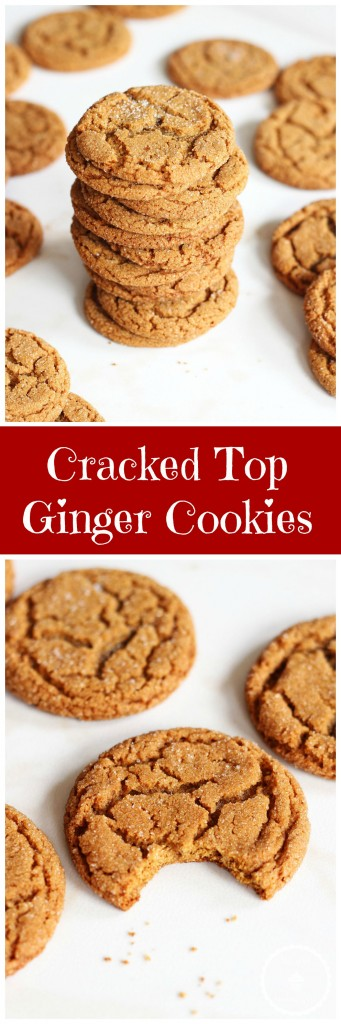 cracked top ginger cookies pin