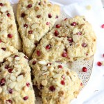 Pomegranate White Chocolate Almond Scones