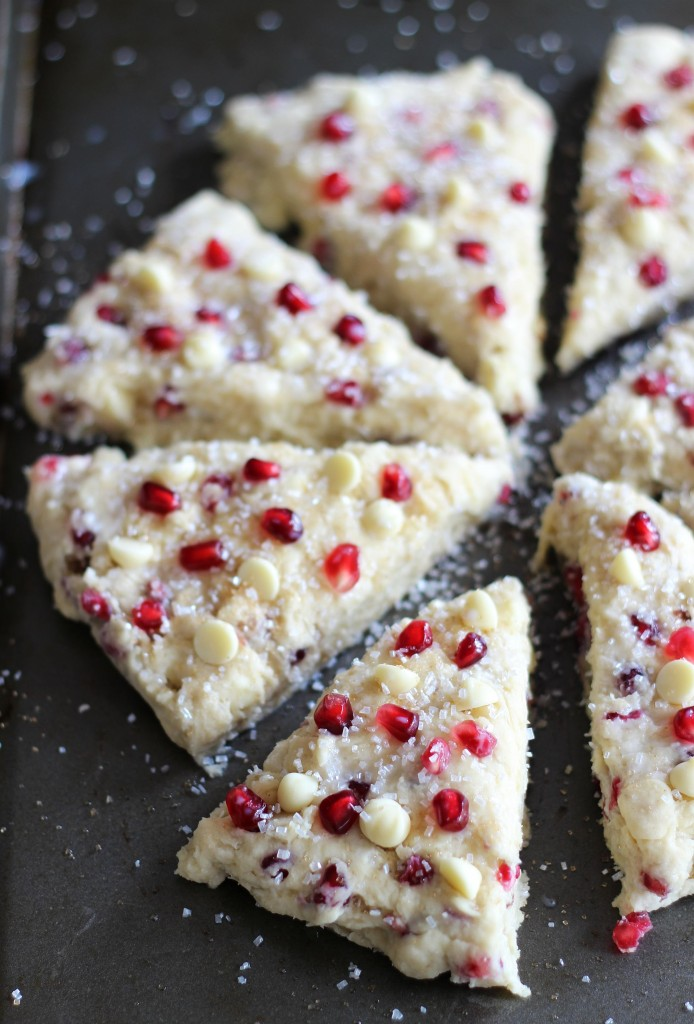 pomegranate seed white chocolate almond scones 7