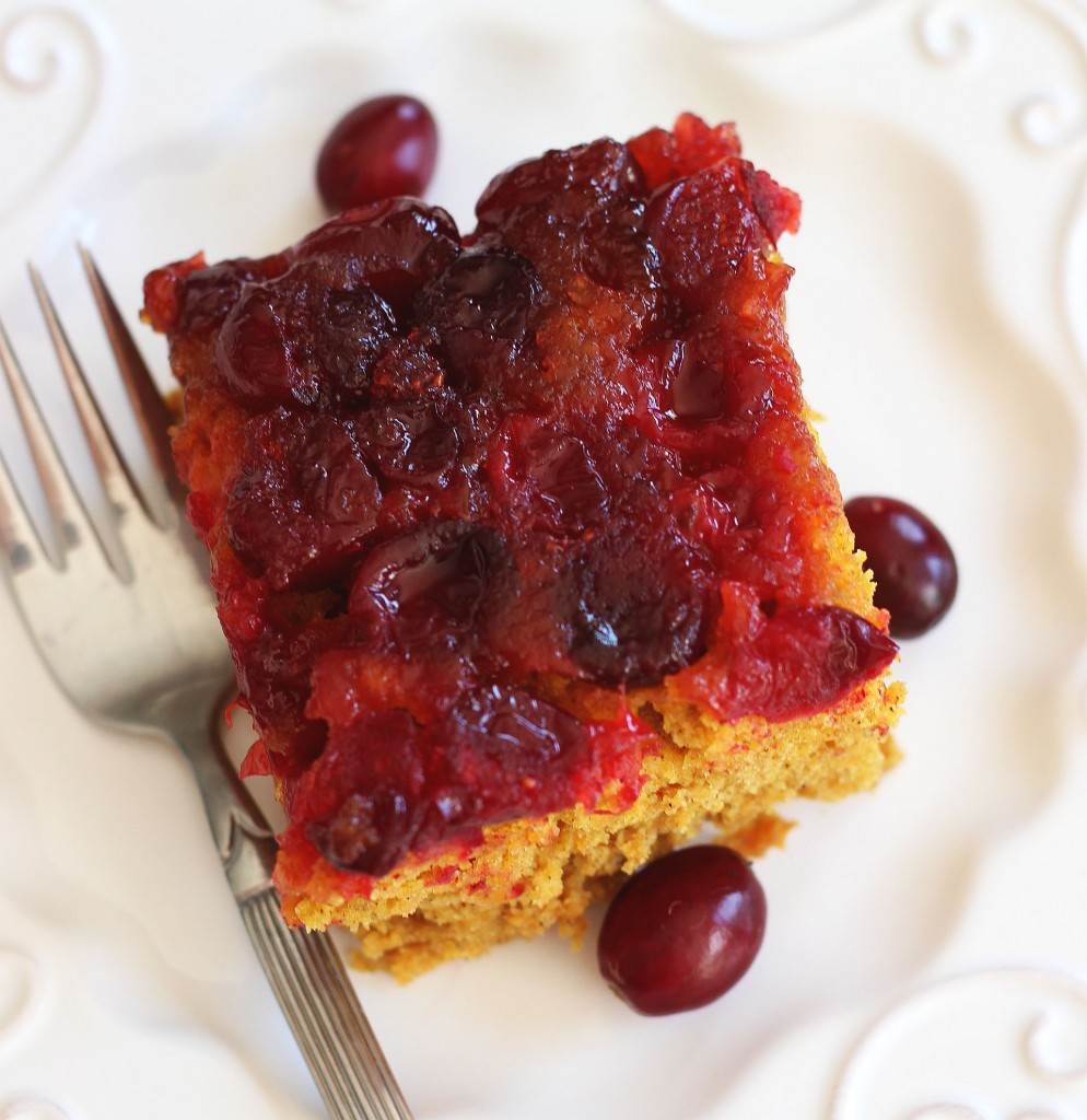 pumpkin cranberry upside down cake 10