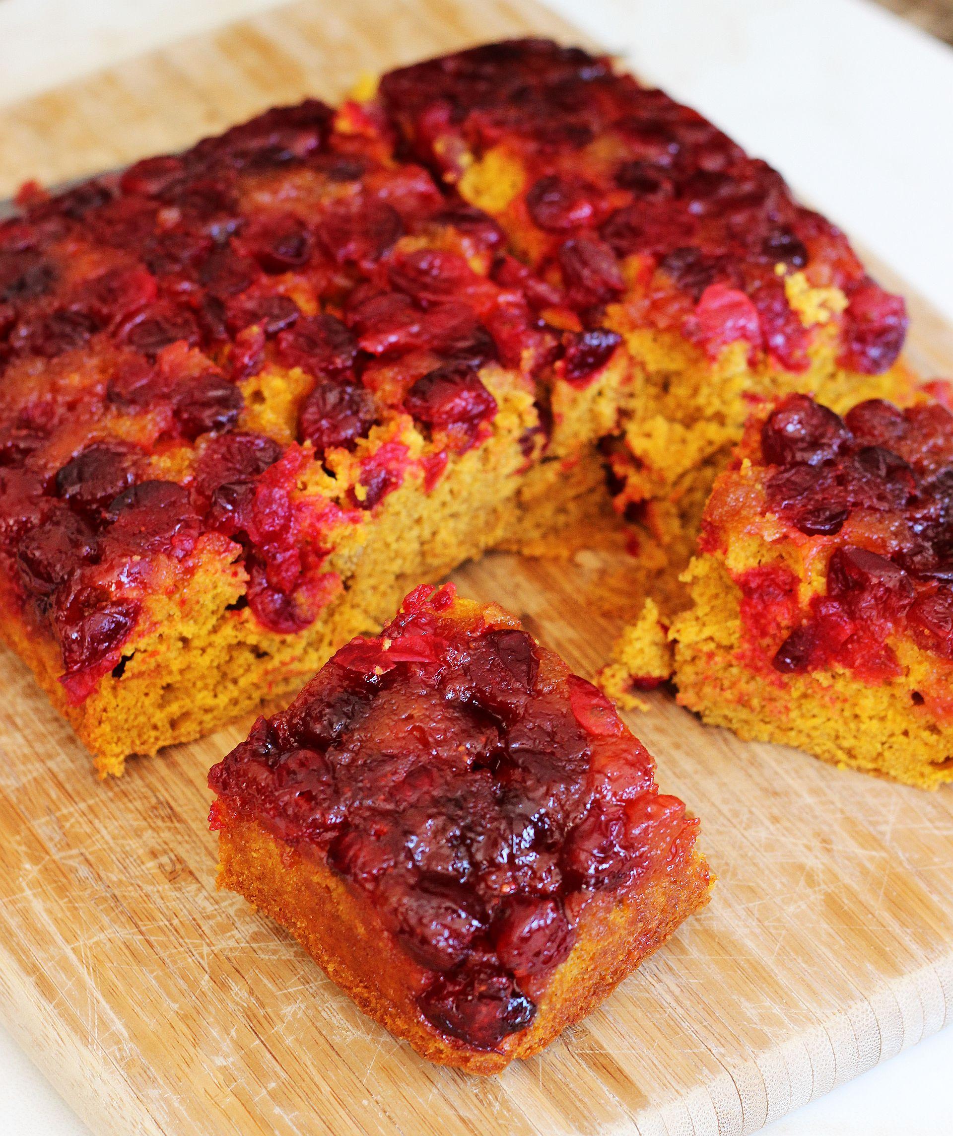 Recipe cranberry upside down cake