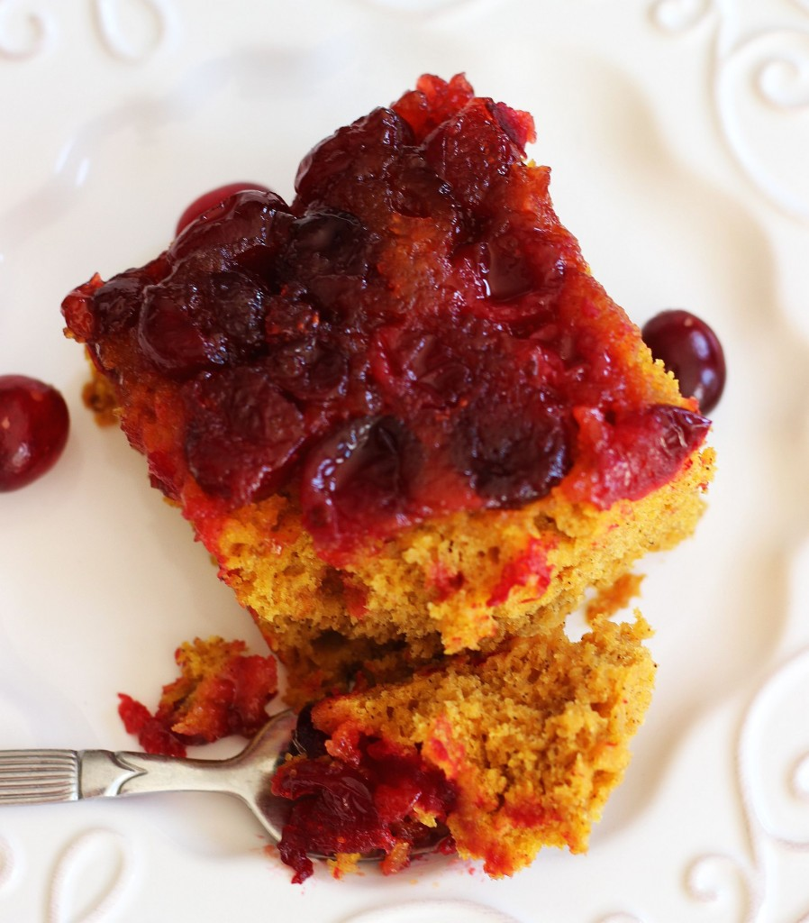 pumpkin cranberry upside down cake 18