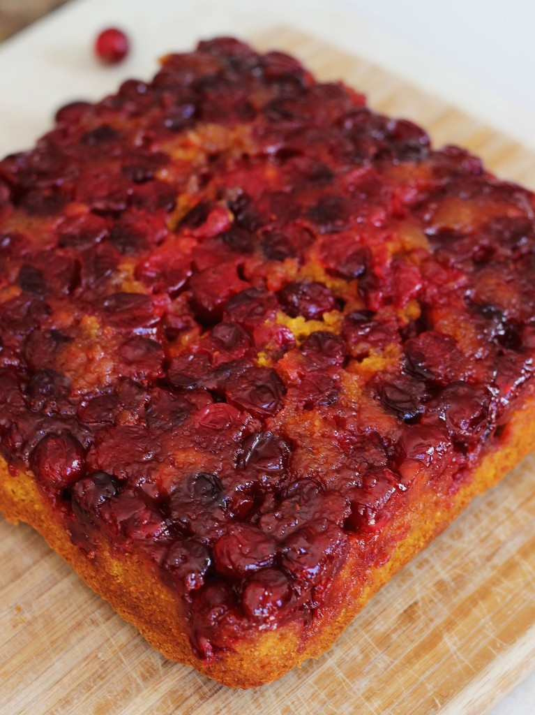 pumpkin cranberry upside down cake 3