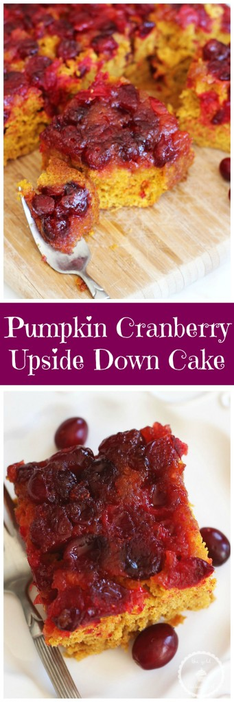 pumpkin cranberry upside down cake pin