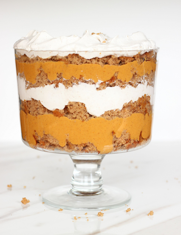 Pumpkin Butterscotch Spice Cake Trifle
