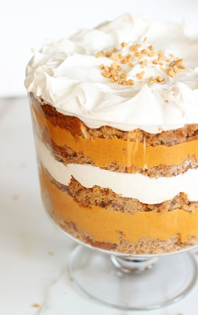 pumpkin spice cake butterscotch trifle 7
